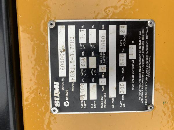 Sumi HDR1.5-3.7TRI Electric Walkie Reach 5